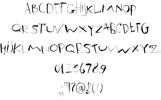 Summary Dk Cool Crayon Font By David Kerkhoff Fontspace